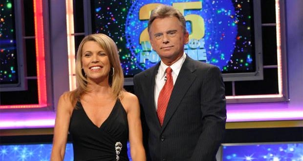 "Vanna White and Pat Sajak of ""Wheel of Fortune"""