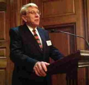 William J. Murray speaking at a prayer breakfast on Capitol Hill