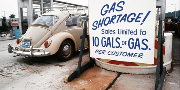 Gas rationing in the late 1970s