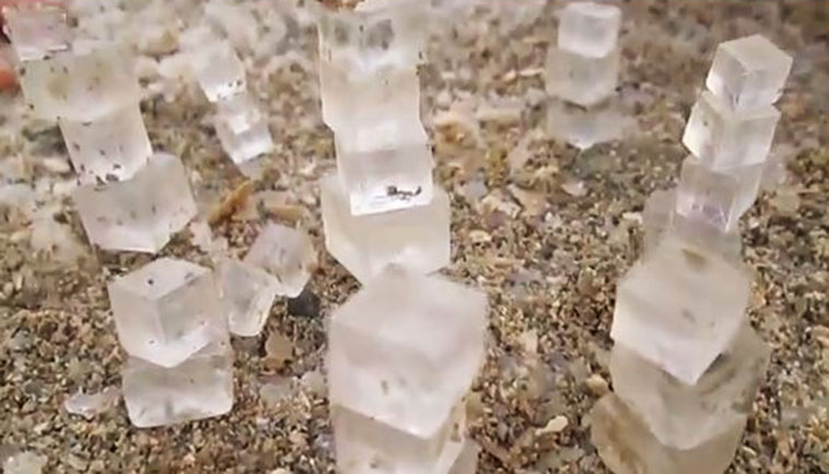 Dead Sea Salt Cube Phenomenon Wows Worldwide