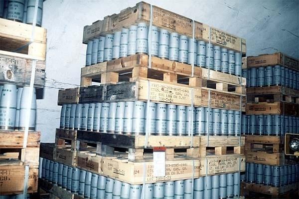 Sarin stockpiles