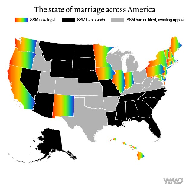What state ban same sex marriage
