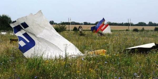 Wreckage from Flight MH17.