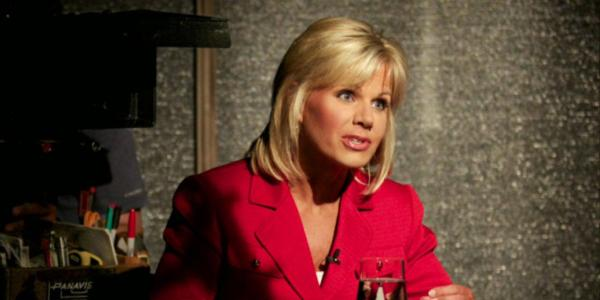 Gretchen Carlson on set of 'Persecuted'