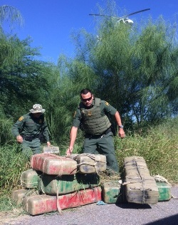 Chris Cabrera, in action during Border Patrol drug bust