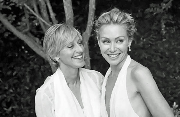 Ellen DeGeneres and Portia de Rossie tied the knot in August 2008