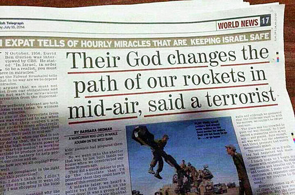'Their God changes path of rockets in mid-air' - WND