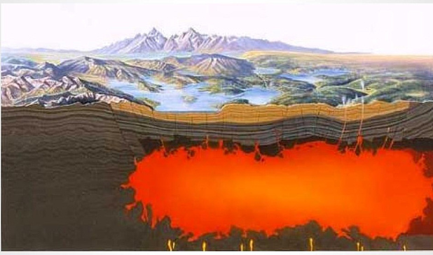 Magma under Yellowstone