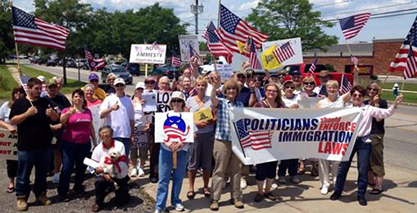 Rally in Chardon, Ohio
