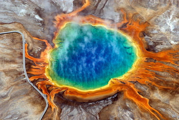 Prismatic pool at Yellowstone