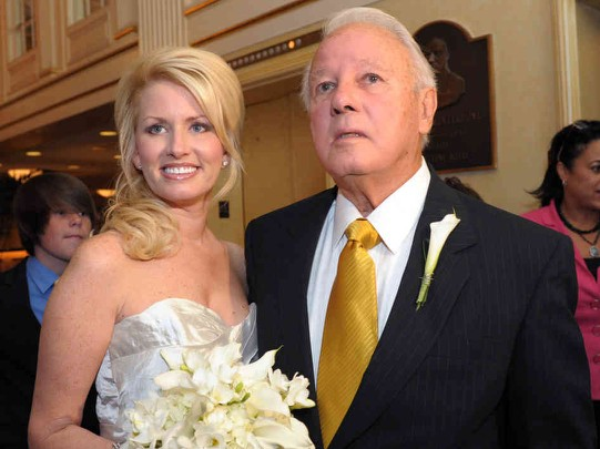 Edwin Edwards with his wife, Trina Grimes Scott