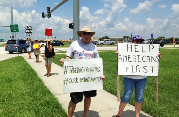 Protest in Viera, Florida