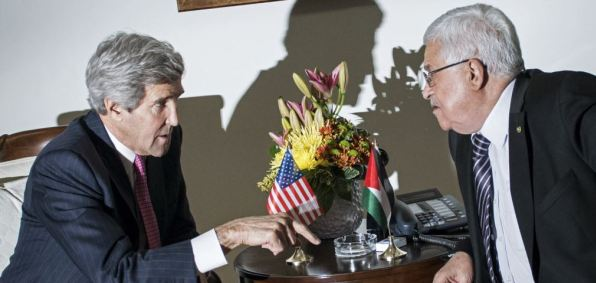 Secretary of State John Kerry and Palestinian Authority President Mahmoud Abbas