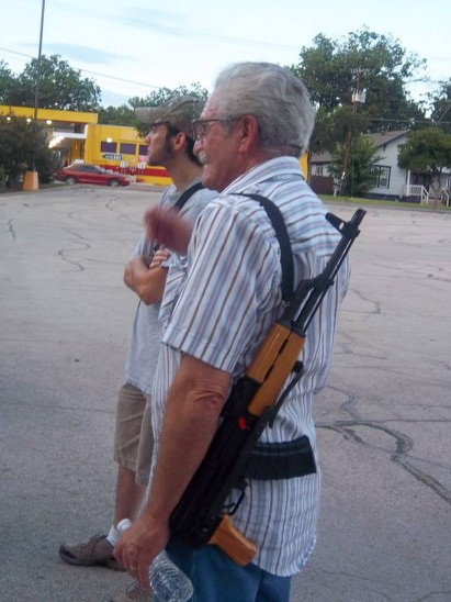 Democracy is too important to be left exclusively to the young.  Seasoned veterans have an important role to play. (Photo courtesy of Open Carry Texas)