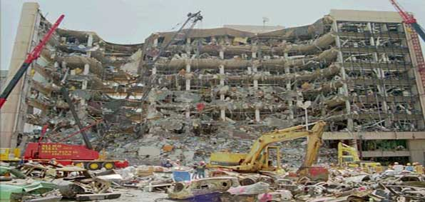 The Alfred P. Murrah Federal Building was bombed on April 19, 1995, in Oklahoma City.