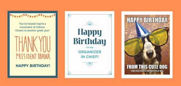 Obama Group Channels Rush For Birthday Greeting
