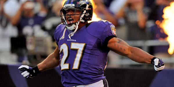 Baltimore Ravens' Ray Rice