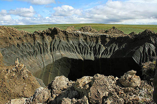 "First hole discovered in Siberian region known as ""the end of the world."""