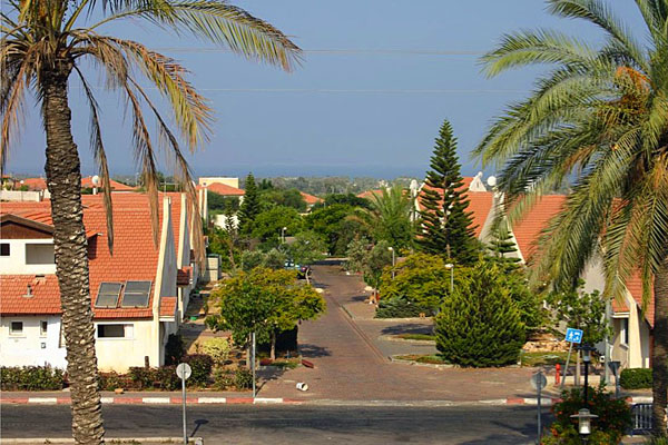 A neighborhood in Gush Katif, Israel, before residents were ordered out and homes razed.