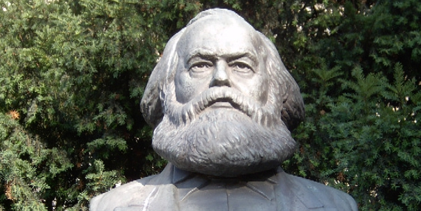 Karl Marx is buried in London's Highgate Cemetery