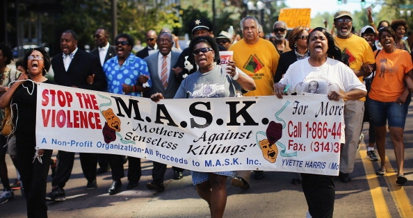 Protests over Michael Brown shooting (Courtesy Getty)