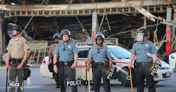 Police at Ferguson, Missouri. (Courtesy Getty Images)