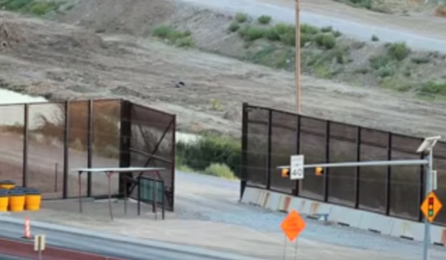 Unsupervised open gate at Mexican border in El Paso, Texas