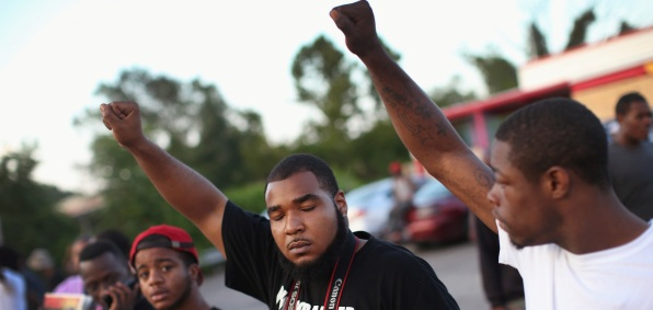 Protesters in Ferguson, Missouri