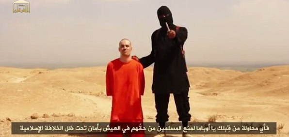 ISIS video-taped the beheading of U.S. journalist James Foley.
