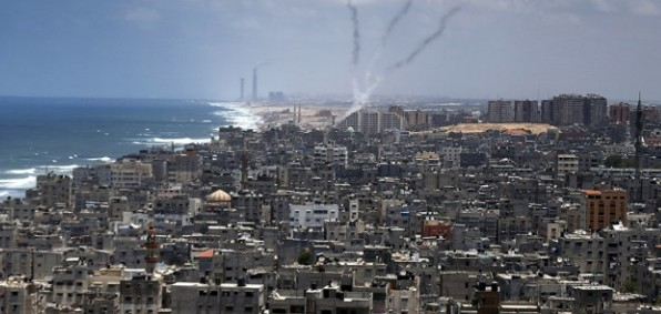 Rockets fired from Gaza City in previous Hamas attack.