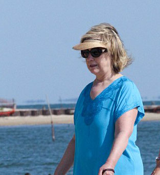 Hillary Clinton Beach Dress