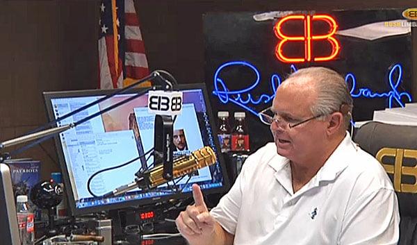 Radio host Rush Limbaugh