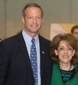 Democratic Maryland Gov. Martin O'Malley and S.I.A. Executive Director, Dr. Shelli Manuel. The left and right band together for this historic event.