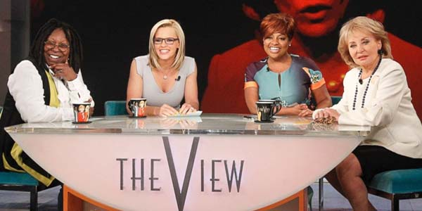 "Whoopi Goldberg, Jenny McCarthy, Sherri Shepherd and Barbara Walters on ""The View"""