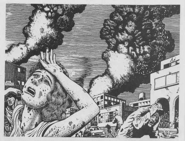 """The Plague of Heat"" by Basil Wolverton"