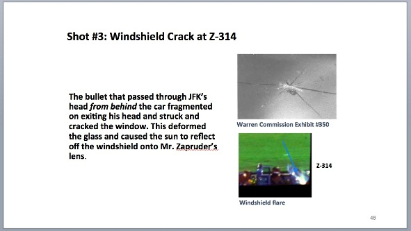 JFK dictabelt article TABLE 4 third shot hits JFK in back of head and cracks windshield Sept 29 2014