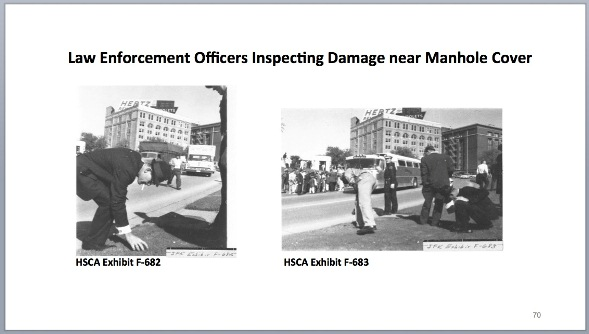 JFK dictabelt article TABLE 8 fifth shot hits manhole cover and is recovered in grass by officers Sept 29 2014