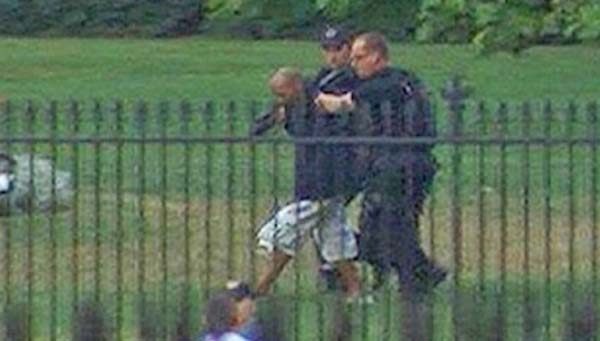 First White House Fence Jumper Jumping White House Fence