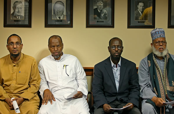 Somali refugees get ready to meet with city officials in Minneapolis, Minnesota, in 2014