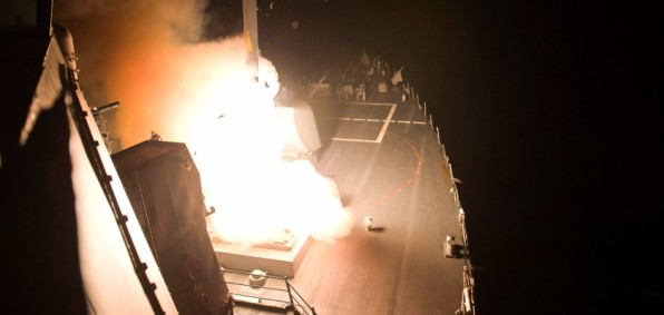 Tomahawk cruise missiles from aboard the USS Arleigh Burke
