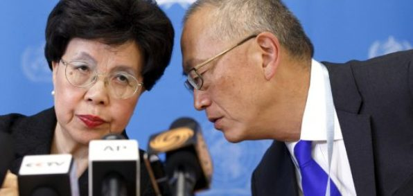 WHO Director General Margaret Chan and Assistant Director General for Health Security Keiji Fukuda.