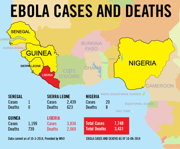 Here's where Ebola could spread next