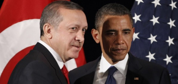 Turkey's Recep Tayyip Erdogan with President Obama