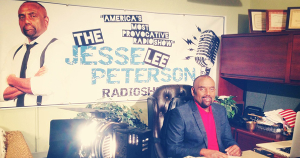 Jesse Lee Peterson in his office in Los Angeles