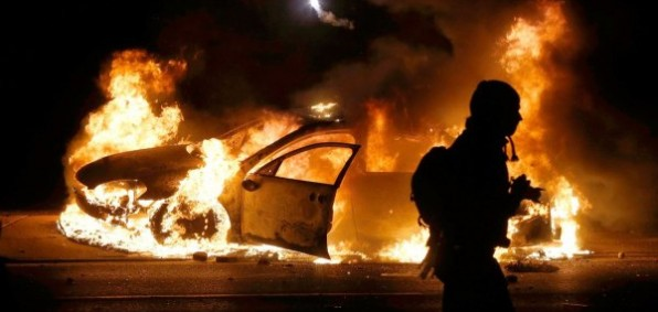 Ferguson, Missouri, riots in 2014 after Michael Brown attacked officer Wilson and was shot