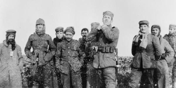 British and German soldiers of the Christmas Truce, 1914