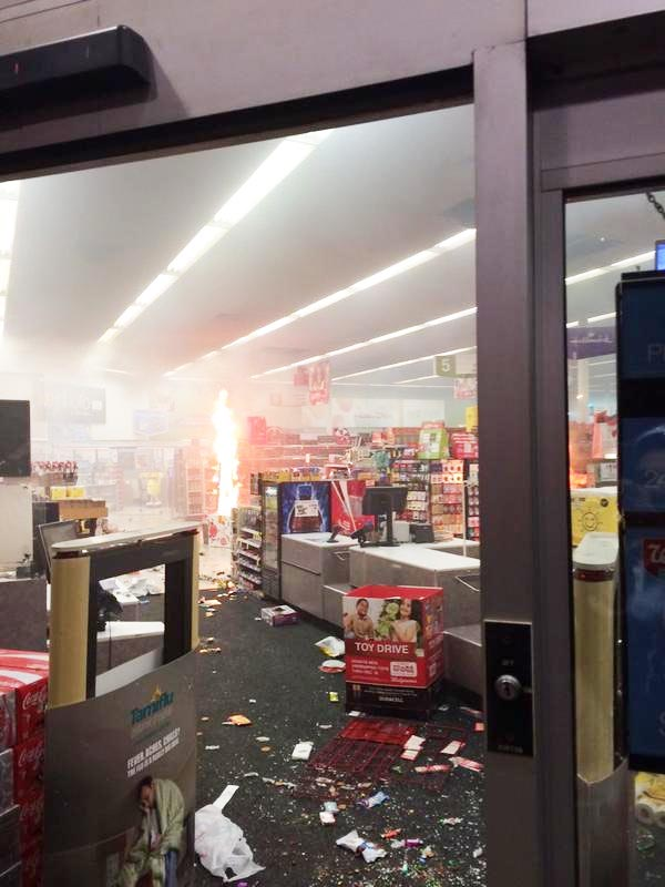 Ferguson Walgreens after rioters