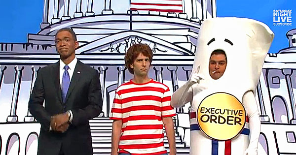 """Saturday Night Live"" skewered Barack Obama for his executive action for illegal aliens."
