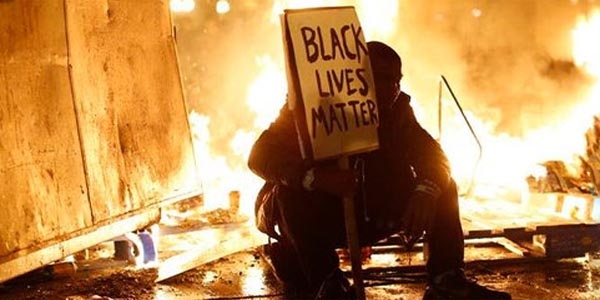 Protests in Ferguson, Mo., turned violent after Officer Darren Wilson was not indicted in the shooting death of Michael Brown.