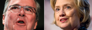 Jeb Bush and Hillary Clinton